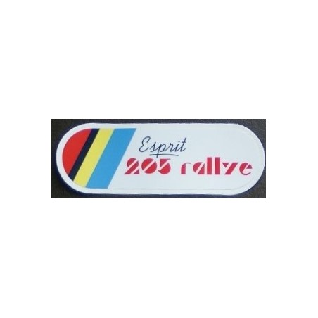 """Sticker """"Esprit 205 Rallye"""""""